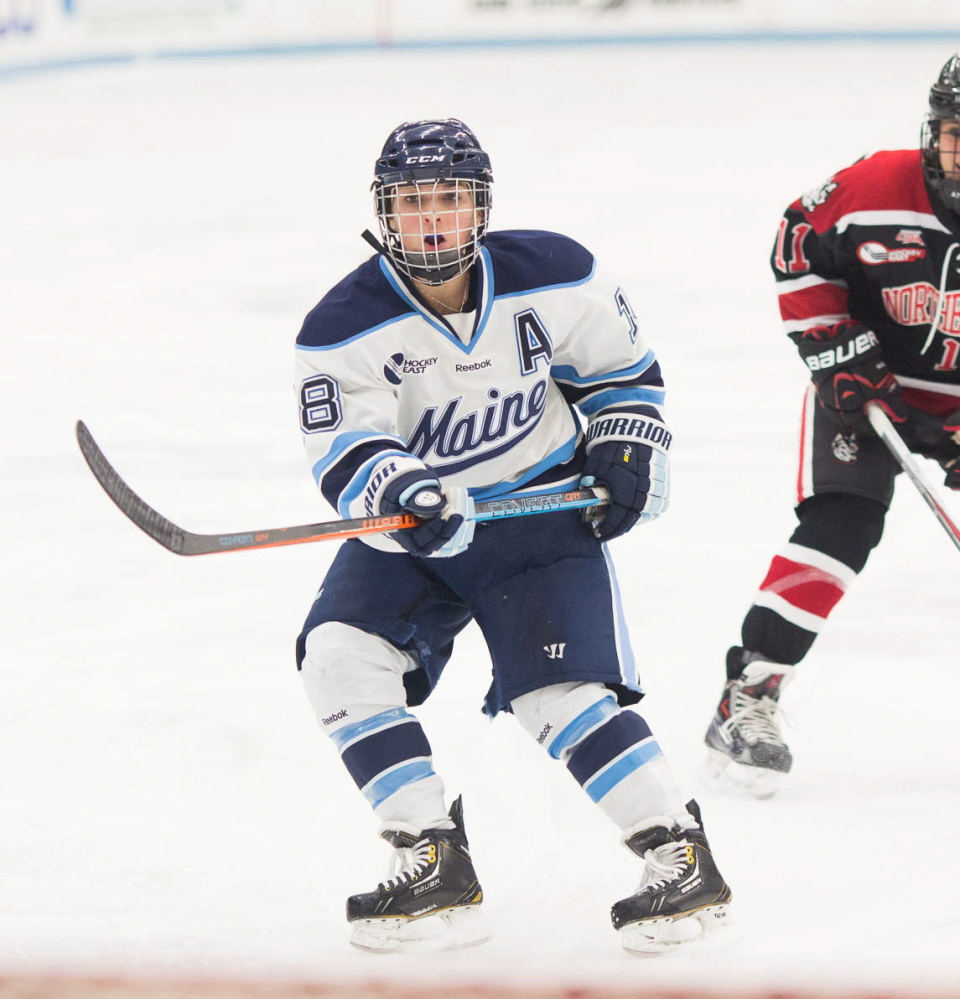 Katy Massey recently played her final game for the University of Maine women's ice hockey team. Massey was determined to join the team as a walk-on after she graduated from Waterville Senior High School, but was rebuffed by coaches. Massey persevered and she'll graduate with the most games played for the Black Bears in a career with 132.