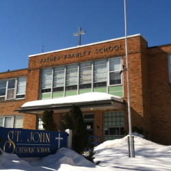 St. John Regional School in Winslow will expand to a seventh and eighth grade over a two-year period beginning next fall. The school was founded in 1926 by Rev. John Frawley, for whom the school building was named.