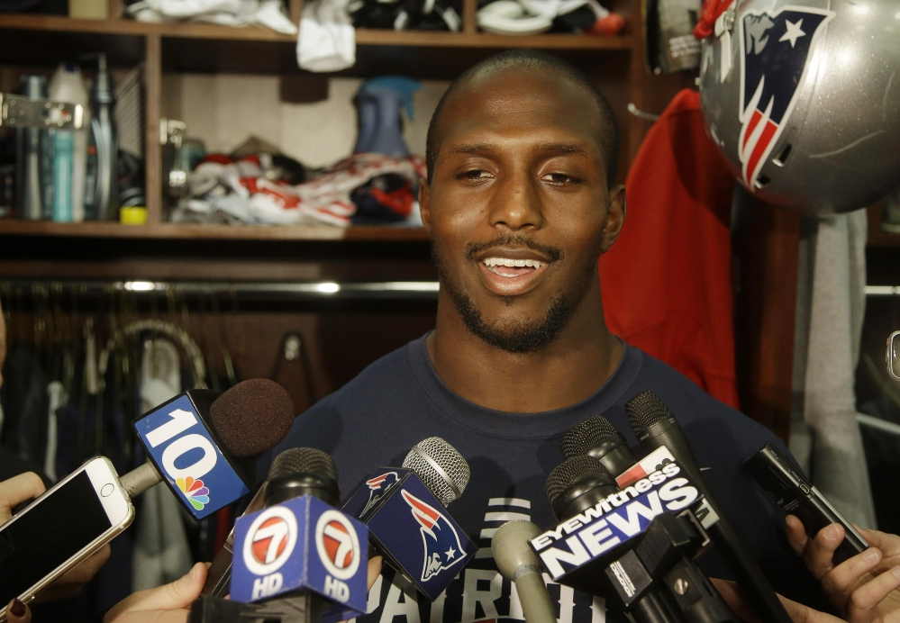 Devin McCourty says he's returning to the New England Patriots. The 27-year-old free agent said on Twitter late Sunday night that he's happy to stay with the team that picked him in the first round of the 2010 NFL draft.
