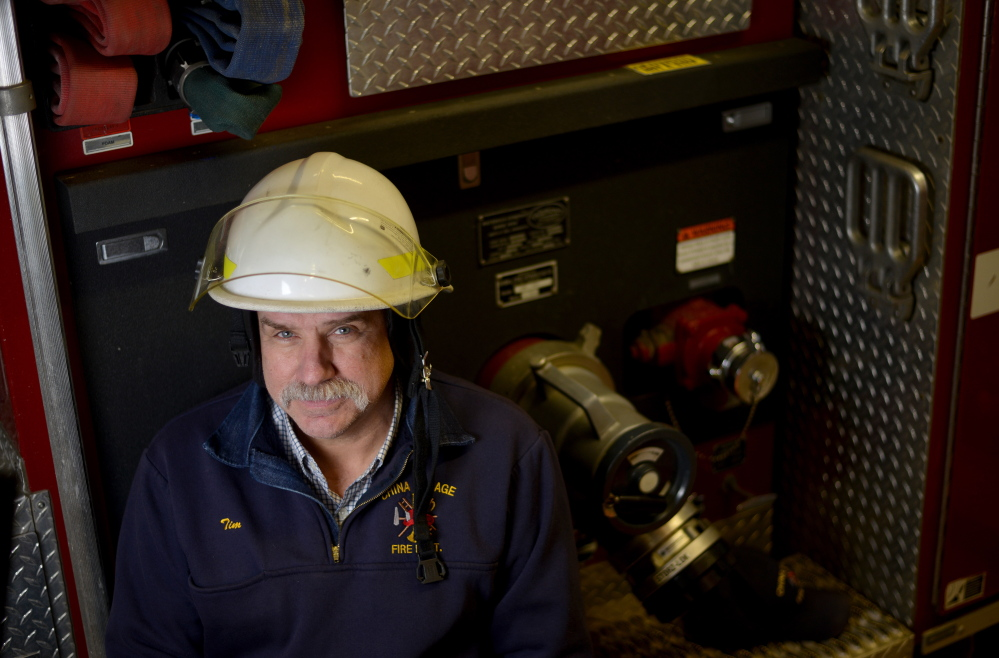 Tim Theriault, chief of the volunteer fire department in China Village.