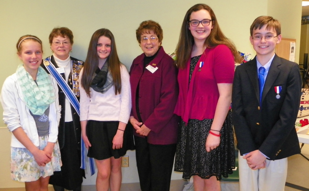 Koussinoc dar chapter honors essay contest winners centralmaine com
