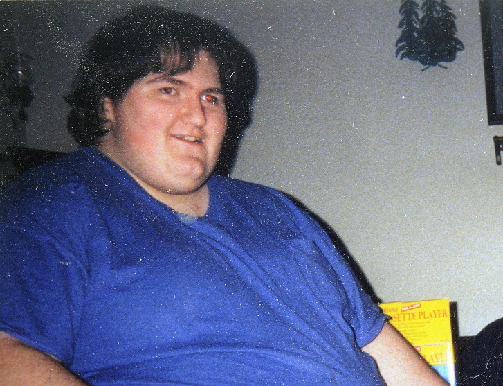 Thomas Towle, of Gardiner, before he lost more than 500 pounds.