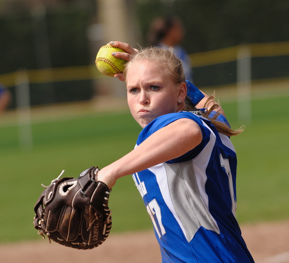 Contributed photo/Seton Hall athletics   Whitney Jones, a former standout athlete at Skowhegan Area High School, is a captain on the Seton Hall softball team this season. Jones is hitting .316 with four home runs and 20 RBI in 26 games for the Pirates.