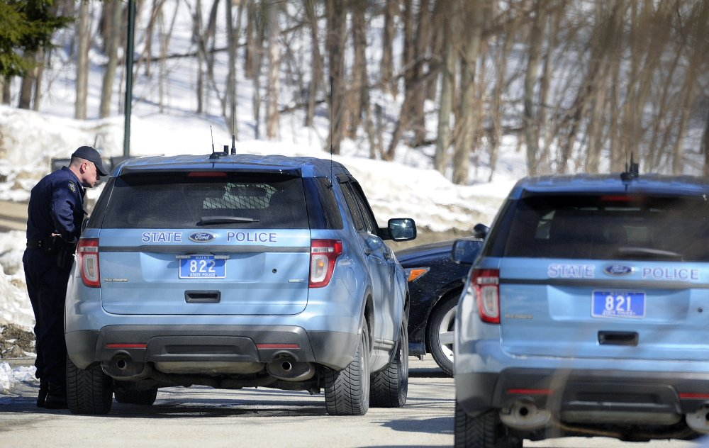 Police arrived at Spruce Street in Winthrop after a person allegedly barricaded themselves in a residence nearby.  State, county and Winthrop police converged on the neighborhood off Route 133.