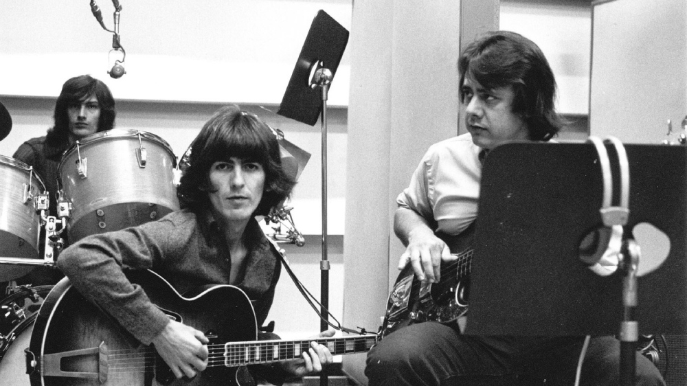 George Harrison and Joe Osborn in The Wrecking Crew.