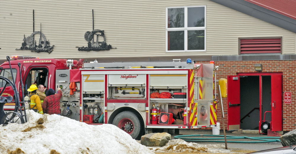 Whitefield Fire Chief Scott Higgins said that there was a fire in a light fixture in the gym of Whitefield Elementary School on Friday.