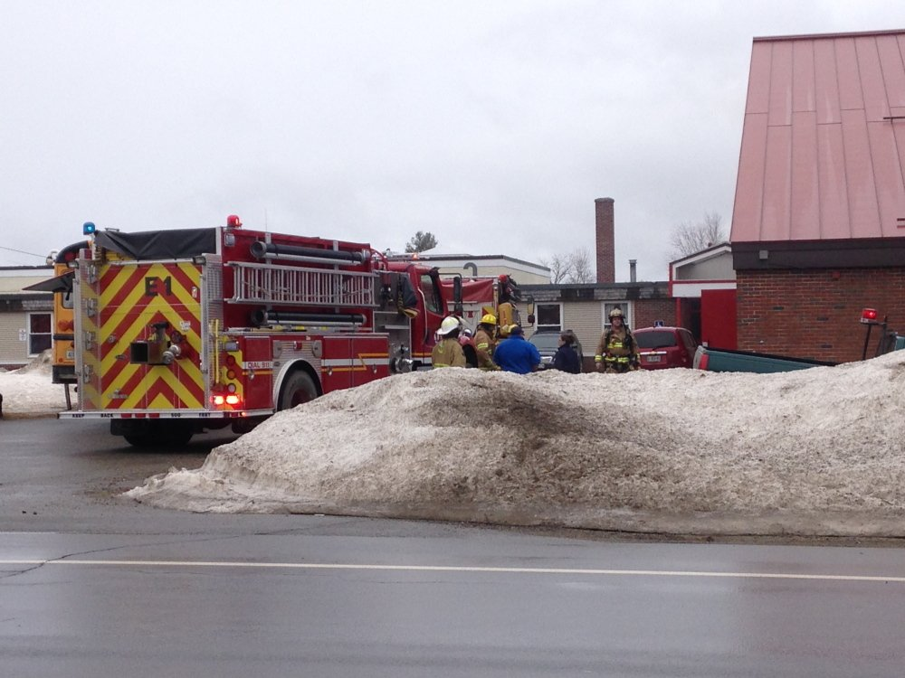 Fire crews responded to Whitefield Elementary School Friday morning for a report of a fire in the gym that was quickly extinguished.