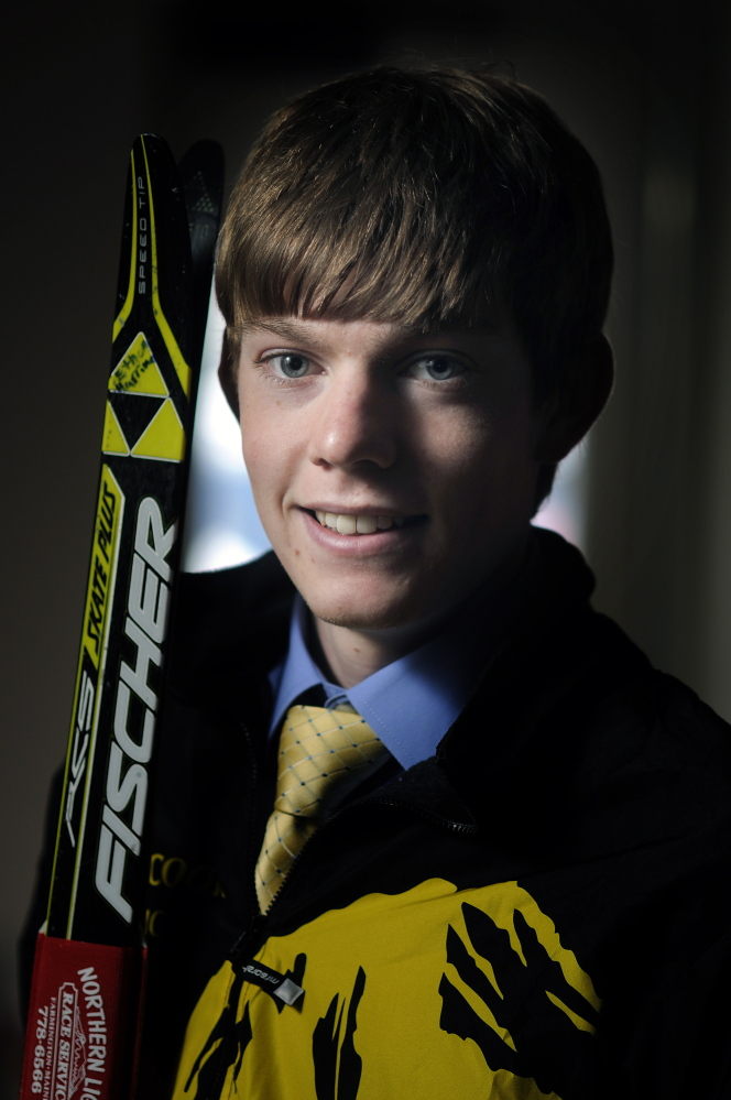 Staff photo by Andy Molloy Maranacook Community High School's Ethan Harriman is the Kennebec Journal's Nordic Skier of the Year.