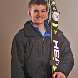 Maranacook Community School's Nathan Delmar is the Kennebec Journal Boys Alpine Skier of the Year.