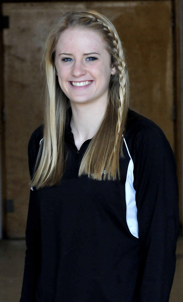 Sarah Shoulta of Waterville Senior High School is the Morning Sentinel Girls Indoor Track and Field Athlete of the Year.