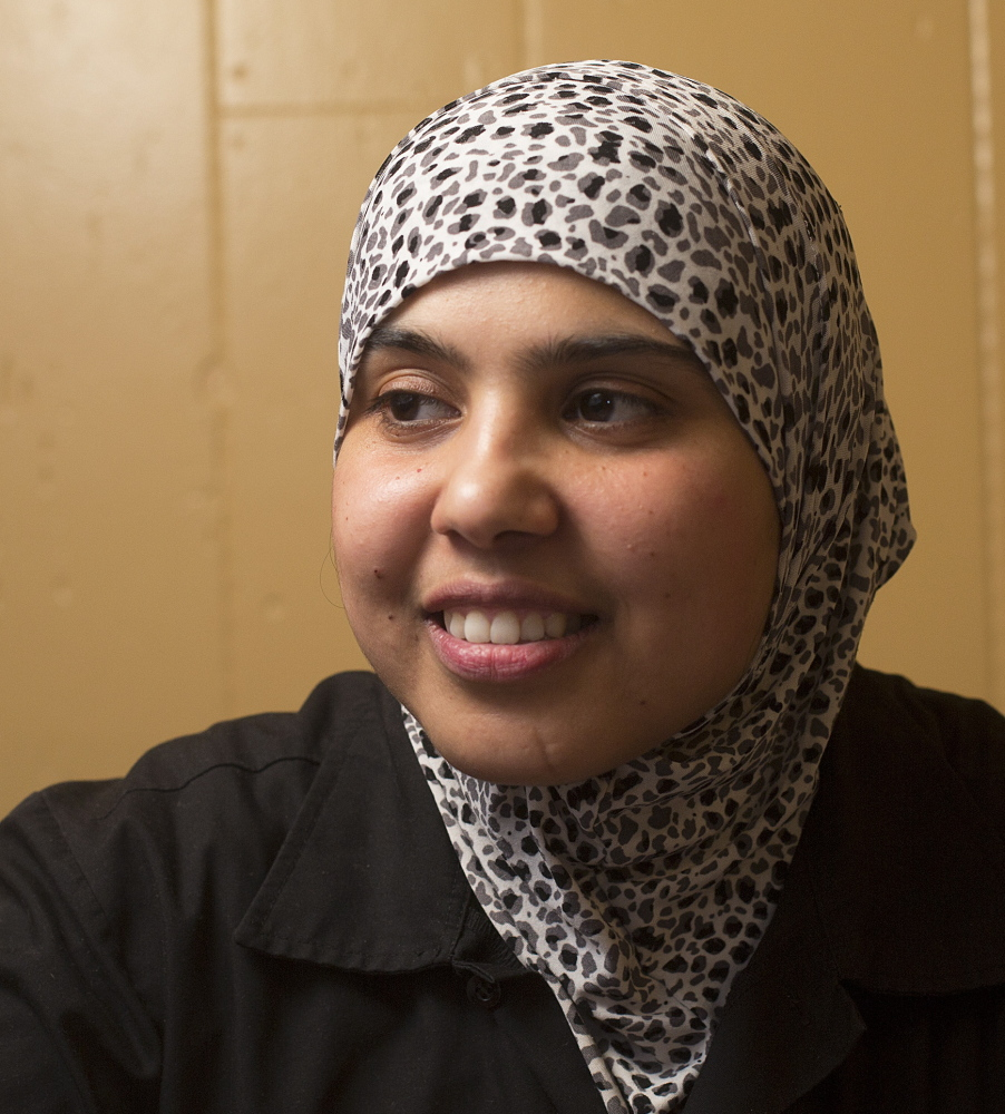 Iraqi refugee Nagham Rikan had to get a loan from her uncle to start Babylon restaurant in Portland when she couldn't find financing allowed by Islamic law.