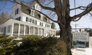 The Center Lovell Inn has seven guest rooms and views of the White Mountains and Kezar Lake. The winner of an essay contest must promise to operate the inn for at least a year.