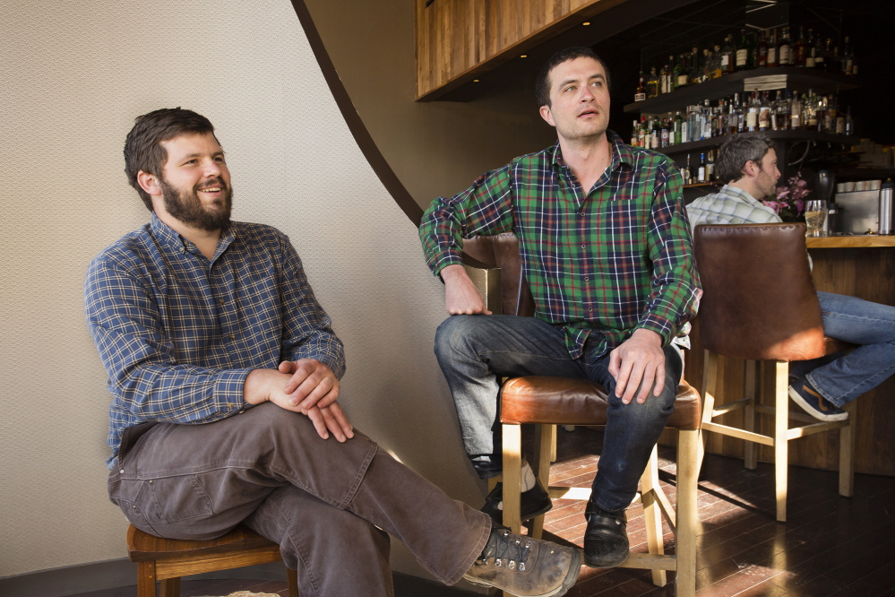 Andrew Taylor and Mike Wiley of Eventide Oyster Company and Hugo's.