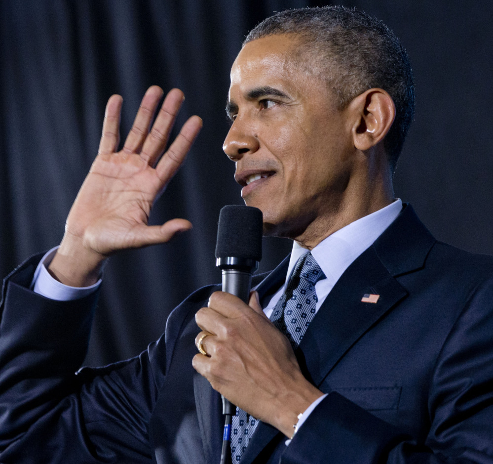 President Barack Obama speaks about the economy and the middle class Wednesday at the City Club of Cleveland in Cleveland.