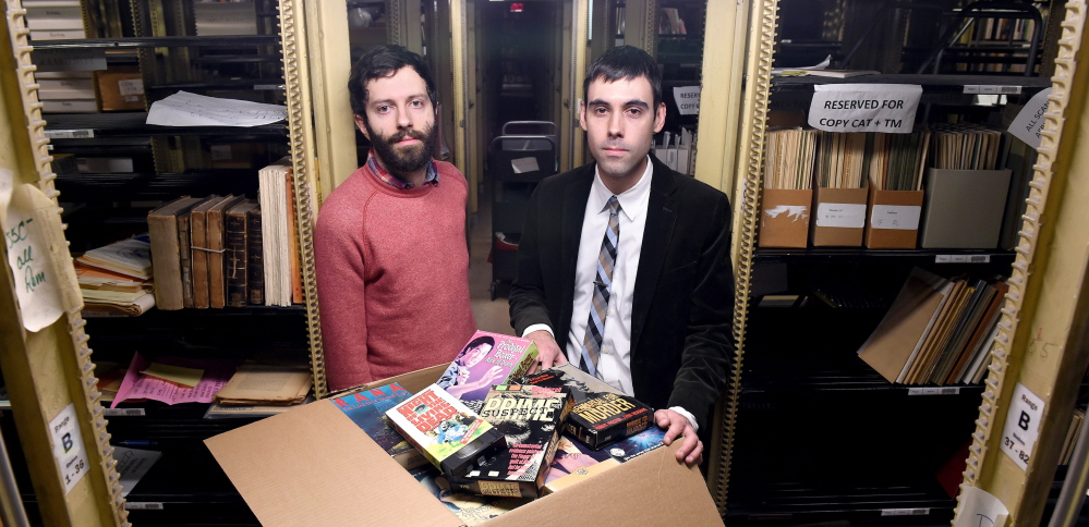 Yale needn't be all about the Harvard Classics, as far as Aaron Pratt, left, and David Gary are concerned. They're into preserving videos of horror movies.
