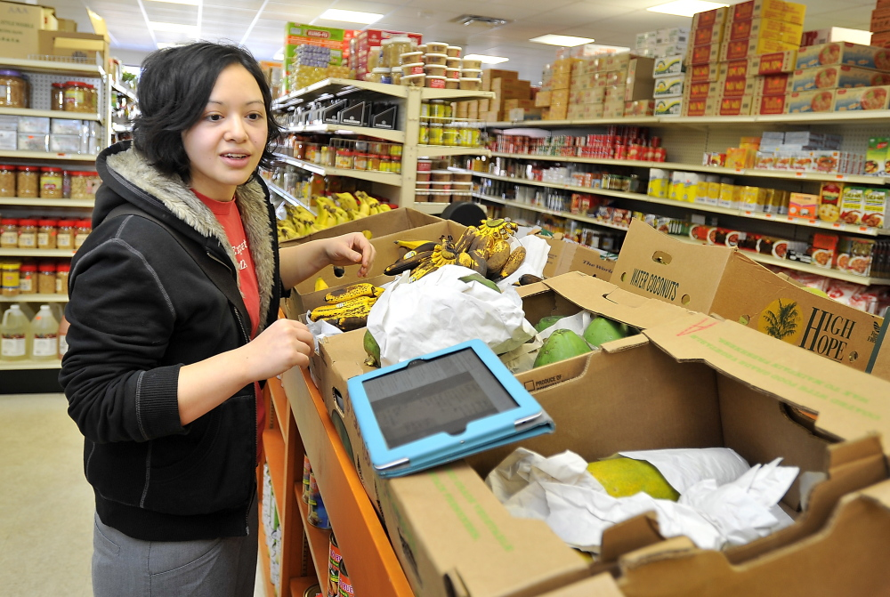 Stadler visits Veranda Asian Market daily to buy for her restaurants. One of her favorite items is rice paddy herb, for which she developed a new appreciation while in Vietnam.