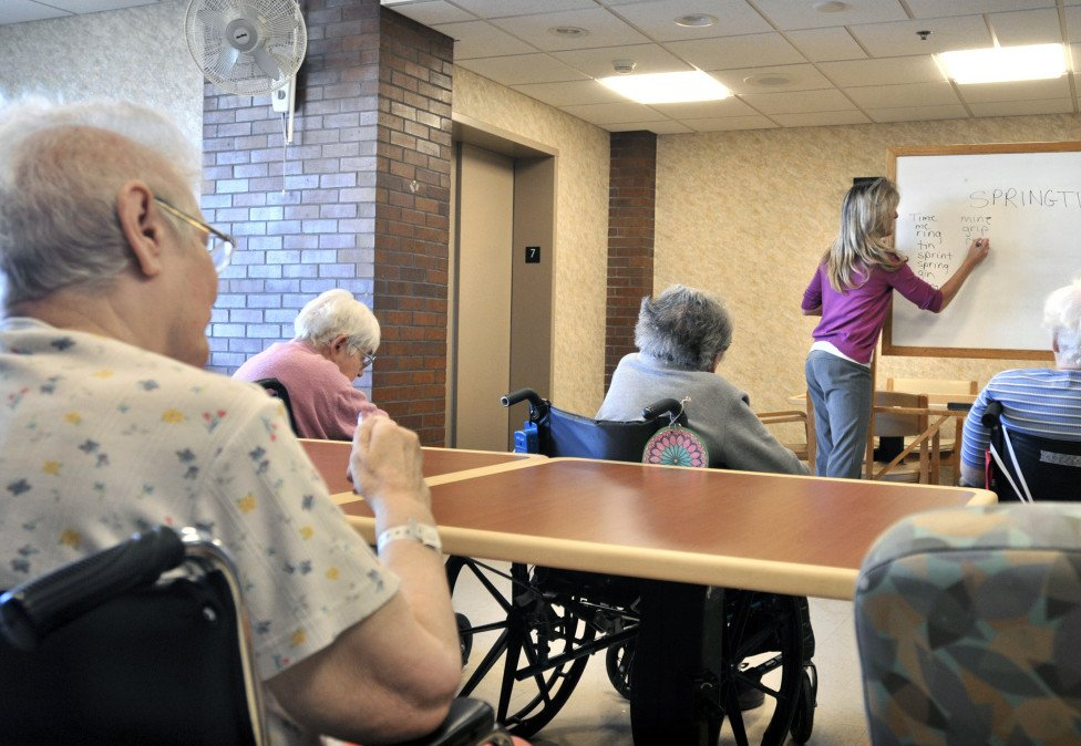 Life insurance firms pitched long-term care policies as the prudent way for Americans to shoulder the cost of staying in nursing homes like this one in Lancaster, Pa., but the companies are the ones paying the price.