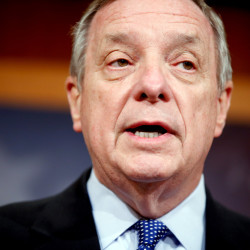 "Senate Minority Whip Richard Durbin of Illinois, said of the budget that passed the House on Thursday: ""It really is a budget that is insensitive and unaware of the reality of life for working families, and that is sad."""