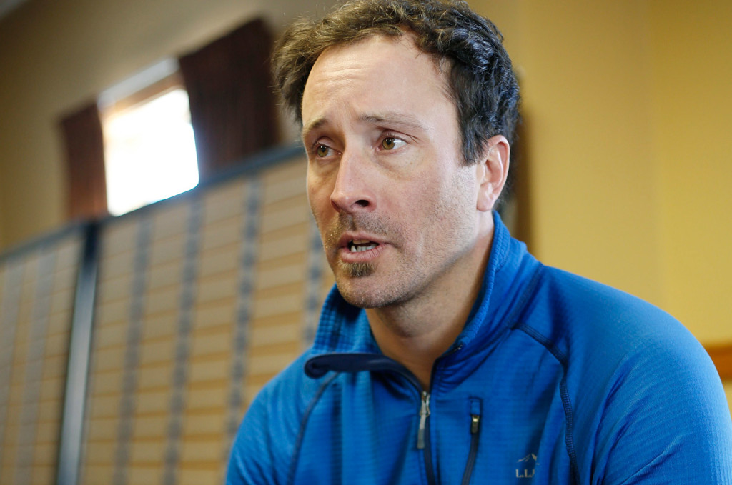 Two-time Olympic champion snowboarder Seth Wescott talks at Sugarloaf this week about his training and goals for the Winter Olympics in South Korea in 2018, when he will be 41.