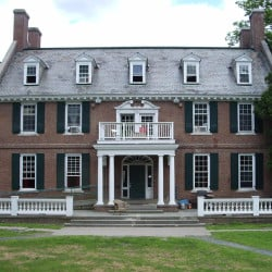 Alpha Delta fraternity in Hanover, New Hampshire. has a significant record of disciplinary violations, including hazing, serving alcohol to minors and hosting unregistered parties. Wikipedia photo