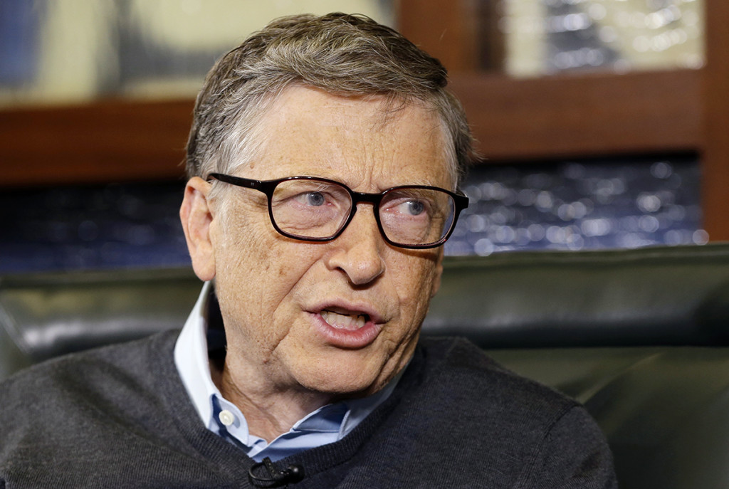 Microsoft co-founder and Berkshire Hathaway board member Bill Gates in a May 5, 2014, photo. The Associated Press
