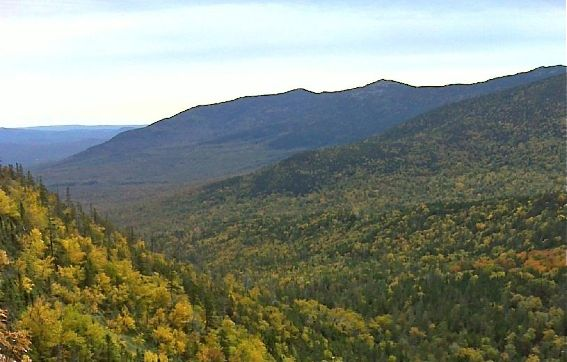 A view of part of the Crocker Mountain land reserve. The 12,046-acre area was acquired from Plum Creek Maine Timberlands in June 2013 with the assistance of The Trust for Public Land, the town of Carrabassett Valley, and numerous other contributors as the centerpiece of the Crocker Mountain Conservation Project. Bureau of Parks and Lands photo
