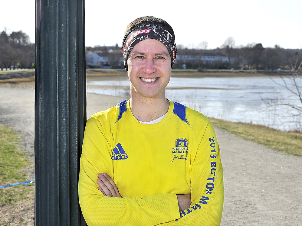 "David Holman of North Yarmouth, who ran in the Boston Marathon in 2013, doesn't want Dzokhar Tsarnaev to get the death penalty for the bombings. He says, ""We need to show that we have a system of justice that is not based on violence and revenge."" 2014 Press Herald file photo/Gordon Chibroski"