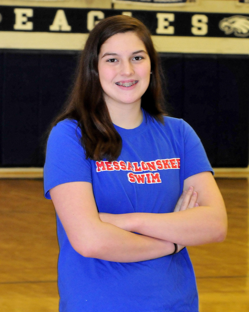 Messalonskee's Kenzie Burton is the Morning Sentinel Girls Swimmer of the Year.