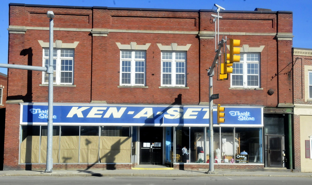 The now closed Ken-A-Set building in downtown Waterville on Wednesday.