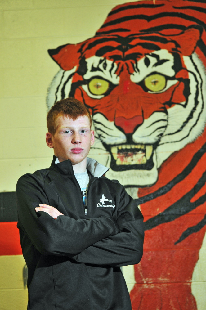 Peter Del Gallo, of Gardiner, is the Kennebec Journal wrestler of the Year.