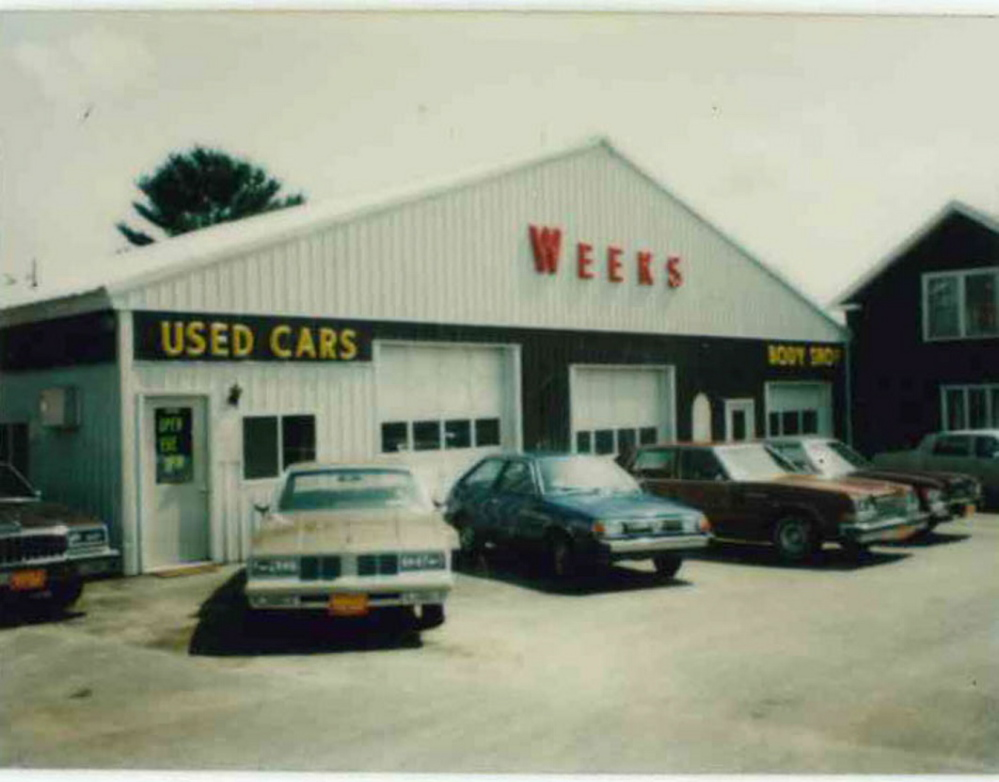 The Weeks auto dealership and body shop after its last renovation, in 1983.