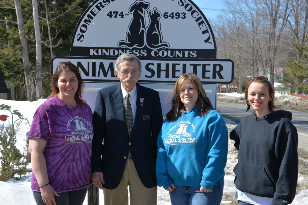 The Masonic Charitable Foundation, District 13 recently donated $2,000 to the Somerset Humane Society. From left are Bonnie Brooks, Somerset Humane Society staff, Bob Mercer, Masonic Charitable Foundation, and Amie Cunningham and Kaitlynn Noke, also humane society staff. Also, the Somerset Humane Society is under self-quarantine because of ringworm. The staff hopes to be back up and running in a few weeks. At this time the humane society is in need of towels, rubber gloves and monetary donations. Since the public is not allowed in the shelter at this time, donations can be left by the front door or mailed.