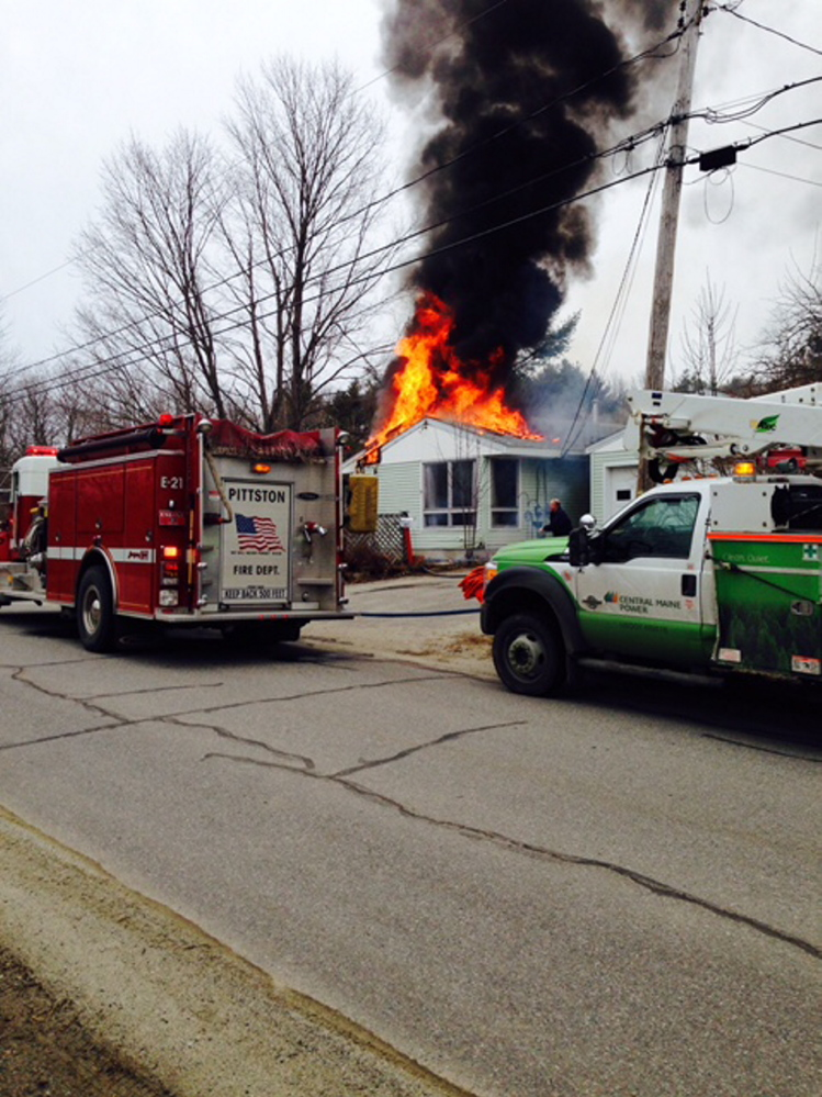 Firefighters from several towns responded to Bowman Street in Farmingdale on Wednesday to battle a house fire.