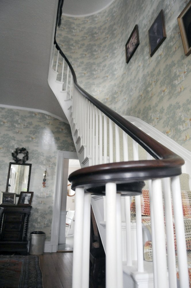 The ornate staircase at the house that Maj. Gen. Seth Williams once lived in on Myrtle Street in Augusta.