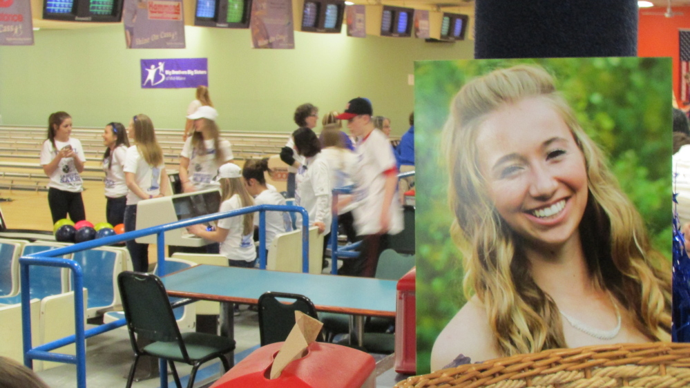 The Bowl for Cassidy's Sake fundraising event Saturday at Spare Time Recreation in Waterville raised more than $36,000 for a Big Brothers Big Sisters program started at Messalonskee High School in Oakland in honor of Cassidy Charette, who was killed in a hayride accident last October.