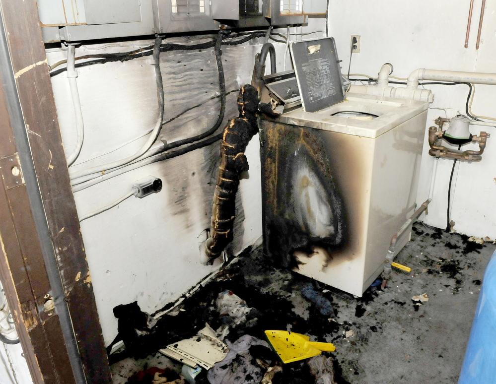Fire destroyed the utility room and contents at an apartment building in Fairfield Monday night. The state Fire Marshal's Office believes the fire is suspicious, according to the owner.