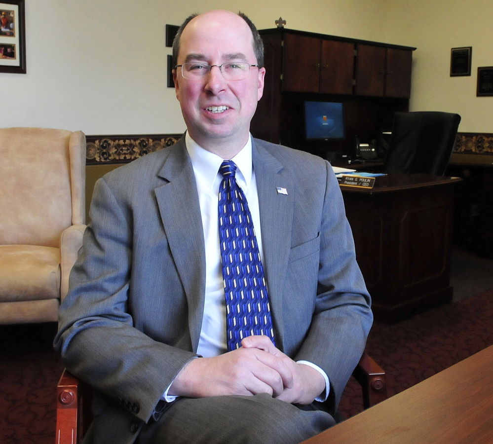 Ryan Poulin, president and CEO of the New Dimensions Federal Credit Union in Waterville, has been named the 2014 Business Person of the Year by the Mid-Maine Chamber of Commerce.