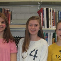 Winners, from left, are Julia Tague-LaCrone, Samantha Allen and Natalie Frost.