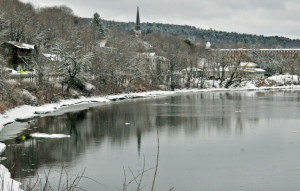 Rain predicted for next week has raised concerns for spring flooding along the Kennebec River.