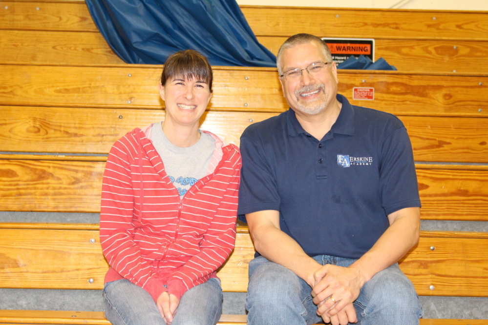Faculty of the Trimester recipients, from left, are Erika Reay and Brian Dutil.