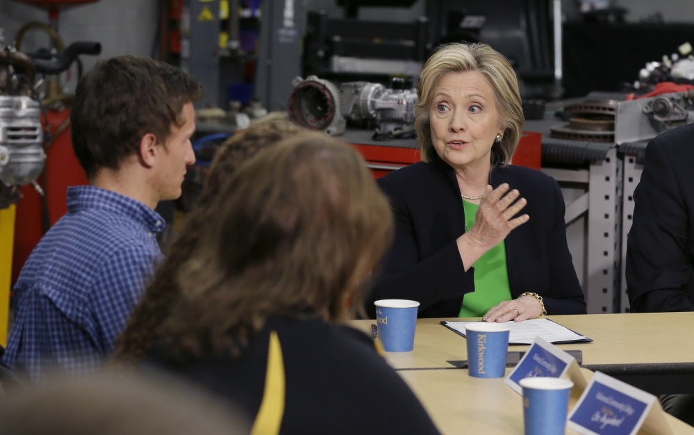 Democratic presidential candidate Hillary Rodham Clinton wants to be on liberals' good side this time. In 2008, she opposed gay marriage, equivocated on granting driver's licenses to illegal immigrants, and took a beating from rival Barack Obama over her stance on campaign finance.