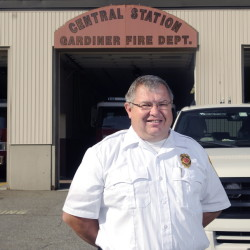 Gardiner Fire Chief Al Nelson, shown in 2014, is trying to find $135,000 worth of cuts and revenue increases in next year's ambulance service budget.