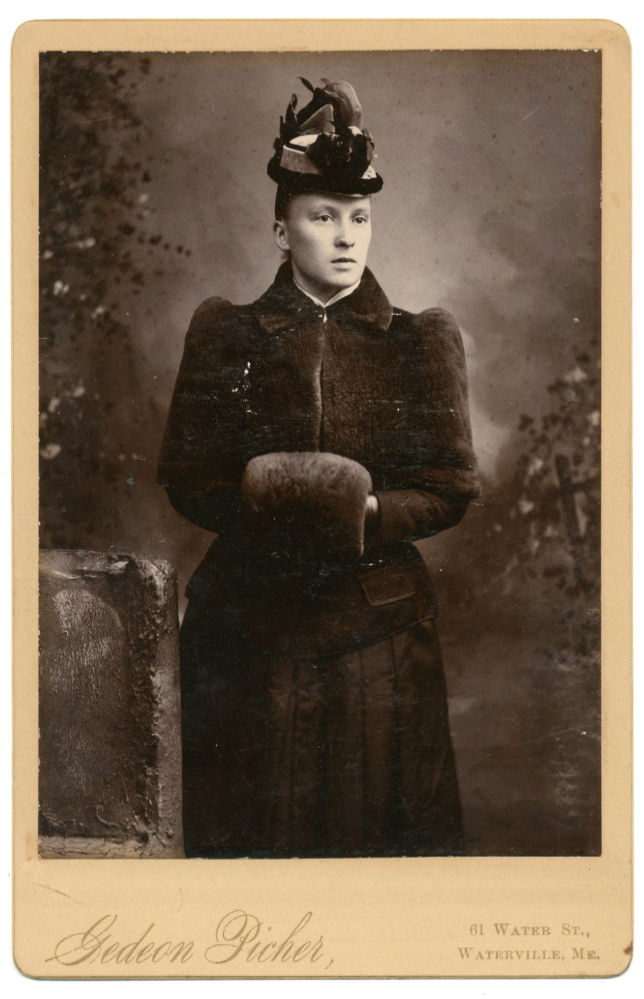 Gedeon Picher, a Canadian-born immigrant to Waterville in the late 1800s, was known for portraits such as this one that he took at his Water Street studio. The photo was bought on eBay by Tanya Sheehan, associate professor of art at Colby College. The photo is part of an exhibit documenting photography and immigrant migration to Waterville.
