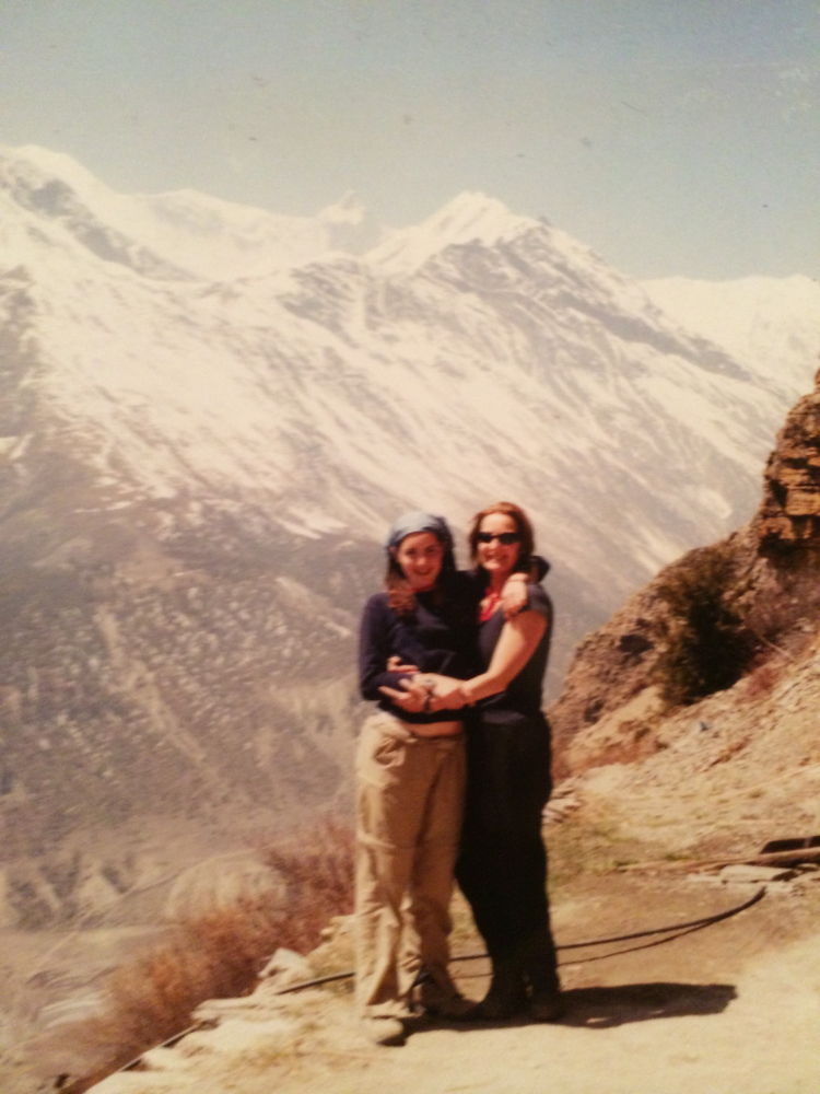 Yasmine Habash, left, and her mother, Dawn Habash, in Nepal in 2000. Friends and family are hoping to hear from Dawn Habash, who has not been heard from since the Saturday earthquake in Nepal that killed more than 4,000.