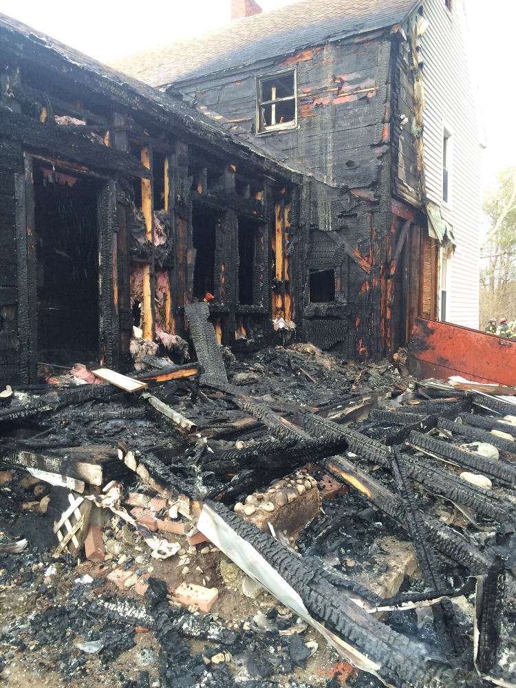 A fire at 107 Old Cedar Grove Road in Pittston destroyed a portion of a family home on Sunday.