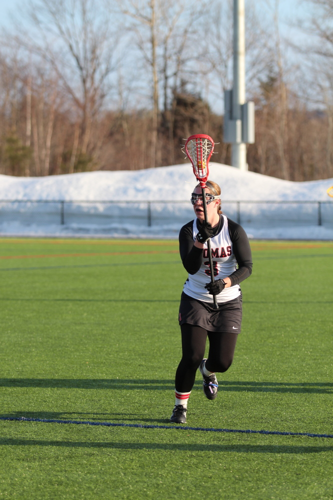 Brittany Premo has 28 goals and six assists for Thomas College this season. For her career, Premo has 109 goals and 25 assists.