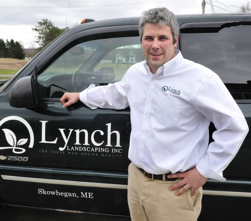 John Lynch of Lynch Landscaping was named winner of the Skowhegan Chamber of Commerce Small Business of the Year award.