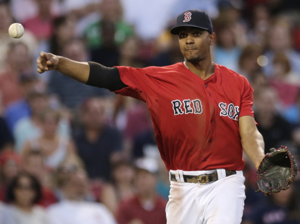Xander Bogaerts had one of those dream debut seasons with the Red Sox, moving through the minors in time to join the team as the third baseman for its 2013 World Series run. Last year he learned the hardships of the job, and continues to work to improve, at short and at the plate.