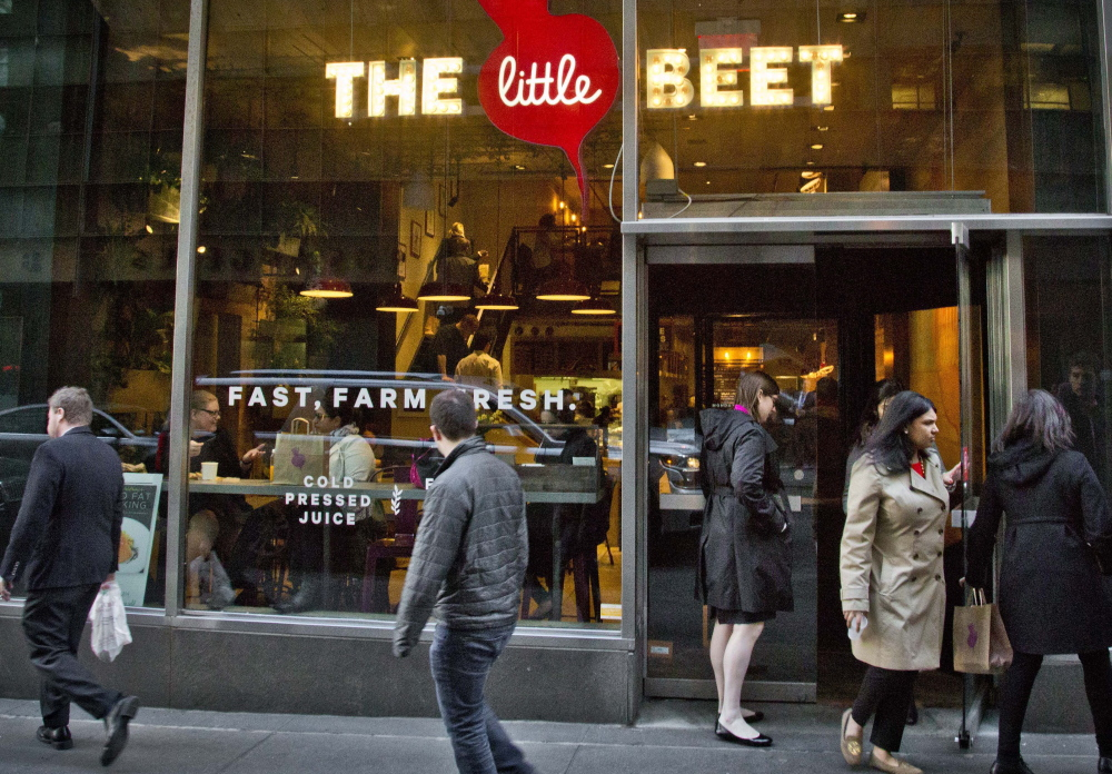 The Little Beet attracts a brisk lunch business in downtown New York – enough for chef Franklin Becker to plan seven more outlets in the big city to meet what he calls a growing demand.