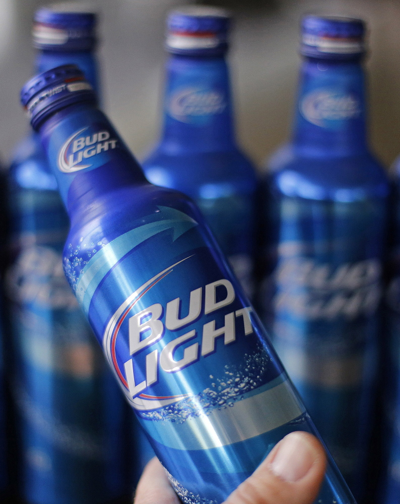 A slogan that appears on some bottles of Bud Light went viral and drew widespread criticism on social media.